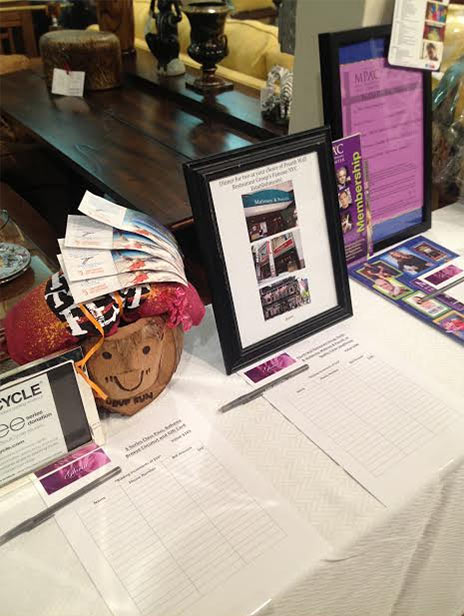 Many wonderful silent auction items generously donated by area businesses