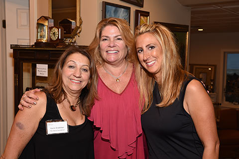 Founder Karen Arakelian with Ginger Naspo of West Caldwell and Kristin, Roots2Endz  of Montville